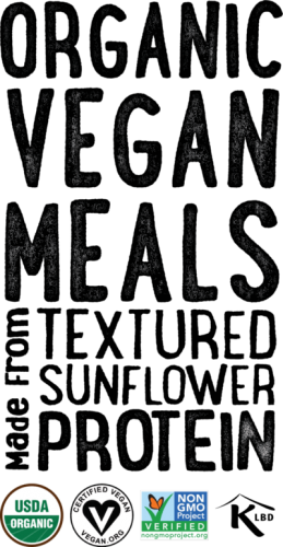 Organic Vegan Meals Made From Textured Sunflower Protein