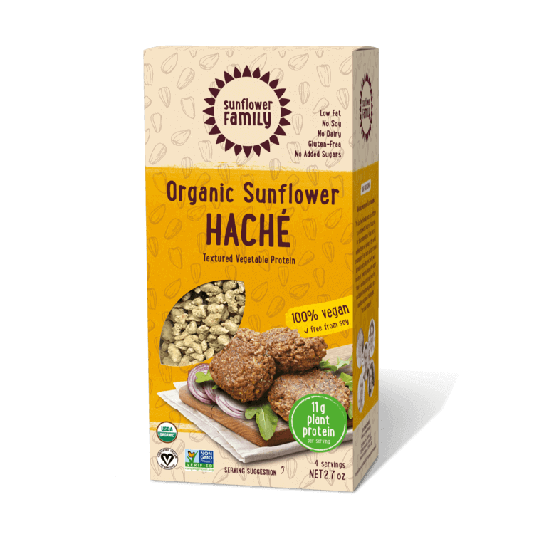 Sunflower Haché meal alternative front of packaging