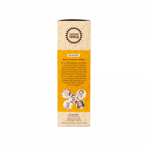 SunflowerFamily® Organic Sunflower Hache - Plant Based Meat Substitute Made From Sunflower Seeds
