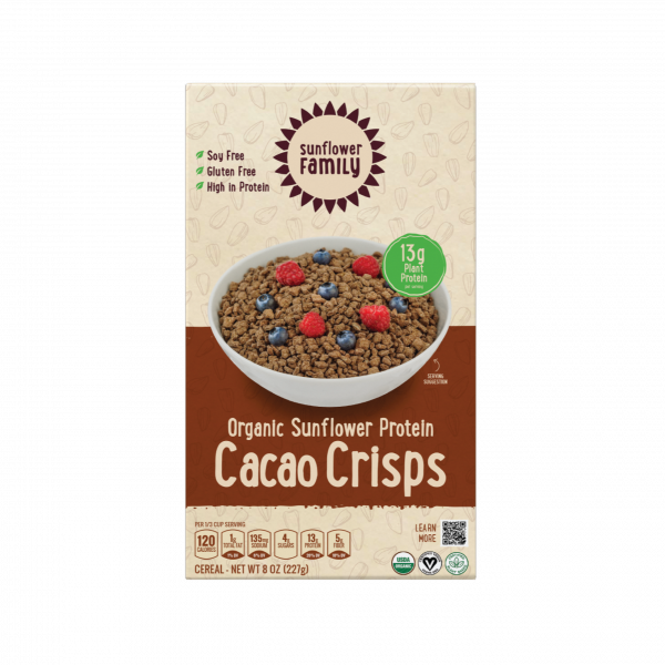 Organic chocolate high protein cereal