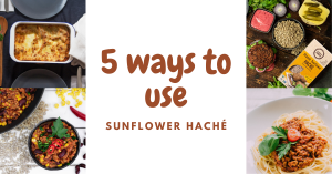 5 ways to use sunflower hache