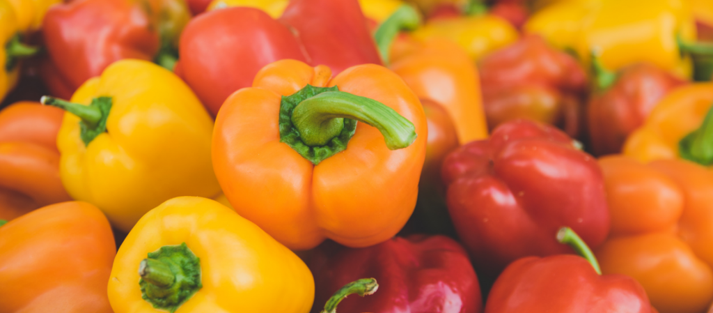 Bell peppers for vegan stuffed peppers recipe